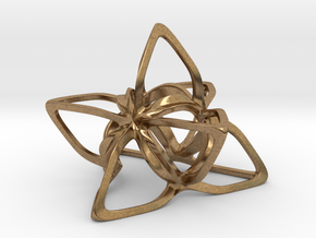 Merkaba Flatbase CurvaciousP - 7cm in Natural Brass