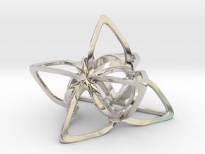 Merkaba Flatbase CurvaciousP - 7cm in Platinum