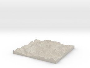 Model of Ipasha Peak in Sandstone