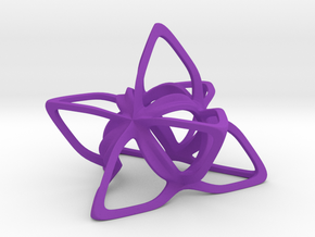 Merkaba Flatbase CurvaciousP - 5cm in Purple Strong & Flexible Polished