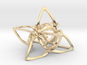 Merkaba Flatbase CurvaciousP - 5cm in 14K Yellow Gold