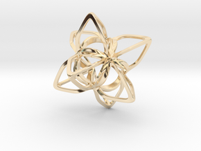 Merkaba Flatbase CurvaciousP - 4cm in 14K Yellow Gold