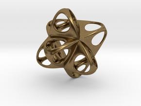Merkaba Flatbase Round - 3.5cm in Natural Bronze
