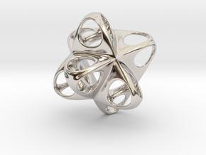Merkaba Flatbase Round - 3.5cm in Platinum