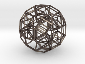 Dodecahedron .06 5cm in Polished Bronzed Silver Steel