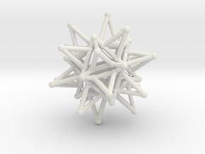 Tessa1 StarCore 2-2cm in White Natural Versatile Plastic