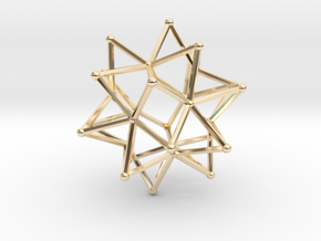 Stellated Icosohedron WireBalls - 3cm in 14K Yellow Gold