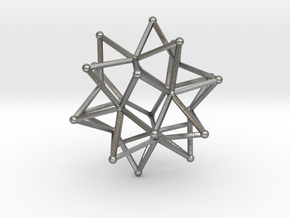Stellated Icosohedron WireBalls - 3cm in Natural Silver