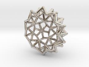 Tessa2 Half WireBalls 2cm in Platinum