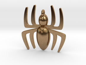 Spider Pendant in Natural Brass