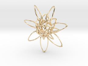 HexTwist 7 Points - 6cm in 14K Yellow Gold