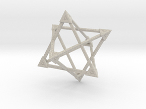 Merkaba Wire Pyramids Only 1 Caps 5cm in Natural Sandstone