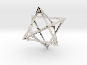 Merkaba Wire Pyramids Only 1 Caps 5cm in Platinum