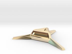 Sharp Merkaba Stand - 3cm in 14K Yellow Gold