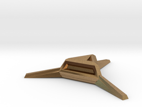 Sharp Merkaba Stand - 3cm in Natural Brass