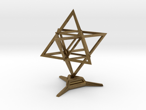 Merkaba Wire 1 W Base 5cm in Natural Bronze