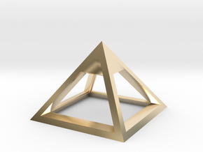 Pyramid Mike 3cm in 14K Yellow Gold