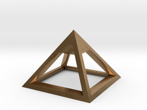 Pyramid Mike 3cm in Natural Brass