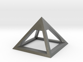 Pyramid Mike 3cm in Natural Silver