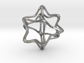 Cube Octahedron Curvy Pinch - 5cm in Natural Silver