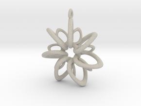 RingStar 7 Points - 4cm, Loopet in Natural Sandstone