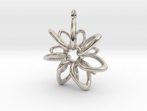 RingStar 7 Points - 4cm, Loopet in Platinum