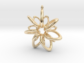 RingStar 7 points - 5cm, Loopet in 14K Yellow Gold