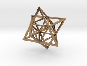 Merkaba Wire 1 5cm in Natural Brass