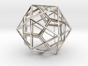 IcosoDodeca Wire 1 4cm in Platinum