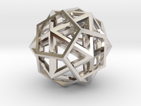 IcosoDodecahedron Thick - 3.5cm in Platinum