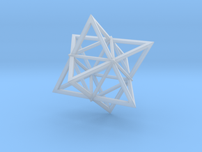 Merkaba Wire 1 5cm in Smooth Fine Detail Plastic