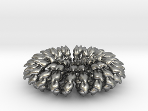 Wave Ring Doubly - 5cm in Natural Silver
