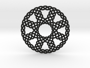 Mesh Ribbon Wheel in Black Natural Versatile Plastic