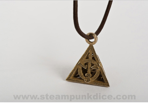 Deathly Hallows Pendant in Stainless Steel
