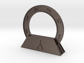 Abydos Stargate with Orion Nebula in Polished Bronzed Silver Steel