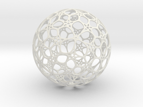 Sphere - O - Mesh in White Natural Versatile Plastic