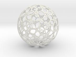 Sphere - O - Mesh in White Natural Versatile Plastic