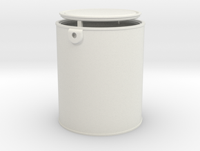 1/6 Scale Gallon Paint Can in White Natural Versatile Plastic