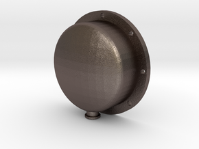 "3/4"" Scale Elesco Feed Water Heater Oil End in Polished Bronzed Silver Steel"