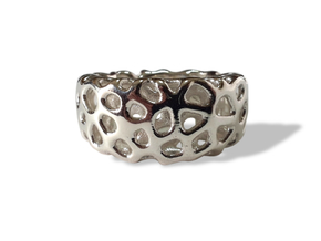 CORALLO ring in Polished Silver: 7 / 54