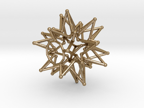 Tessa Star Core - Open Bottom - 5cm in Polished Gold Steel