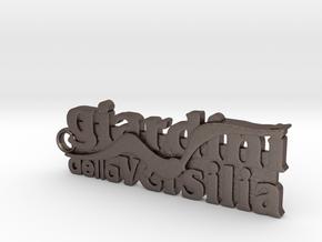 Portachiavi Giardini della Versilia 8cm in Polished Bronzed Silver Steel