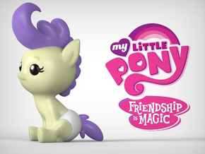 My Little Pony - Cream Puff in Full Color Sandstone