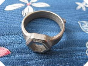 US8.5 Tool Ring XII in Polished Nickel Steel