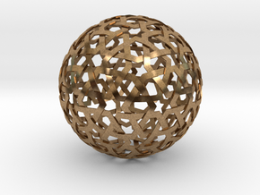 Star Weave Sphere in Natural Brass