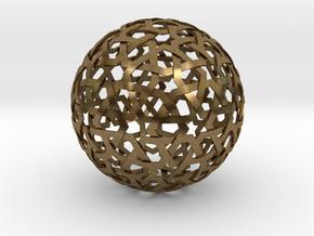 Star Weave Sphere in Natural Bronze