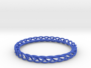 Leaf Bangle in Blue Strong & Flexible Polished