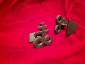 Brimstone Cufflinks in Polished Bronzed Silver Steel