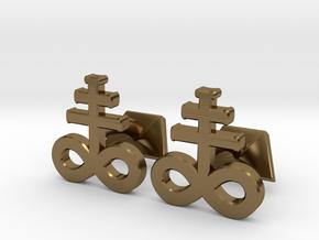 Brimstone Cufflinks in Polished Bronze