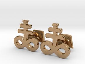Brimstone Cufflinks in Polished Brass